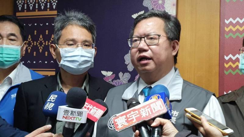 桃園市長鄭文燦(右)。聯合報系記者陳夢茹/攝影