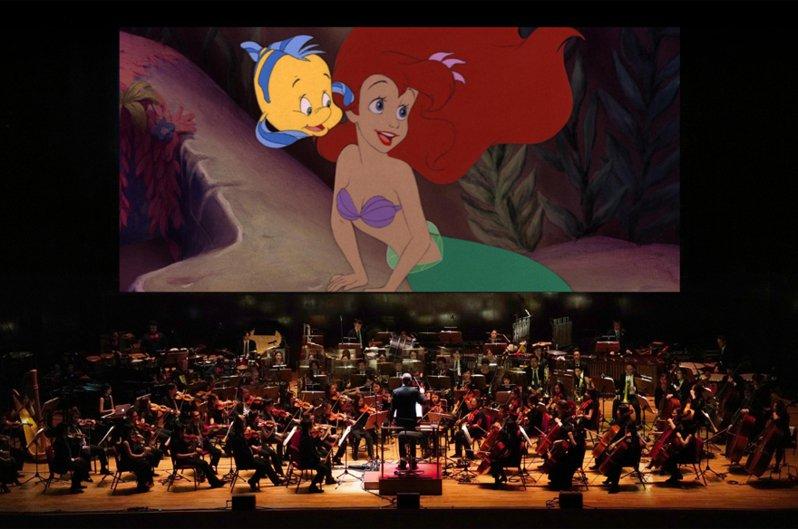 迪士尼「小美人魚」動畫交響音樂會將重返台灣舞台,11月15日在台中國家歌劇院、11月22日在台北國家音樂廳演出,樂團分別由國立台灣交響樂團(台中),長榮交響樂團(台北)擔任。(牛耳藝術提供) 中央社