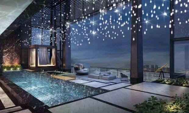 傳戴森夫婦認賠出售新加坡頂樓豪宅。網路照片