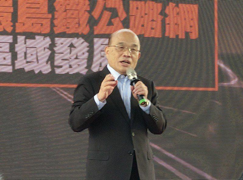 衛福部宣布50到64歲成人暫緩施打公費流感疫苗,行政院長蘇貞昌再次向國人道歉。記者戴永華/攝影