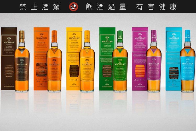 麥卡倫Edition系列於2015年誕生,至今全系列6酒款發行完畢。圖/麥卡倫提...
