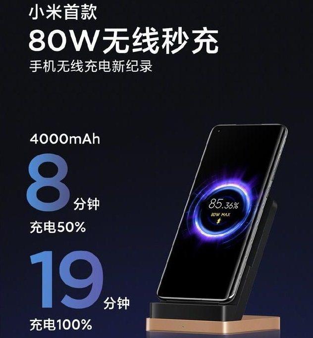 小米董事長雷軍19日在個人微博上發布,小米無線充電首次跨過80瓦大關,也就是19...