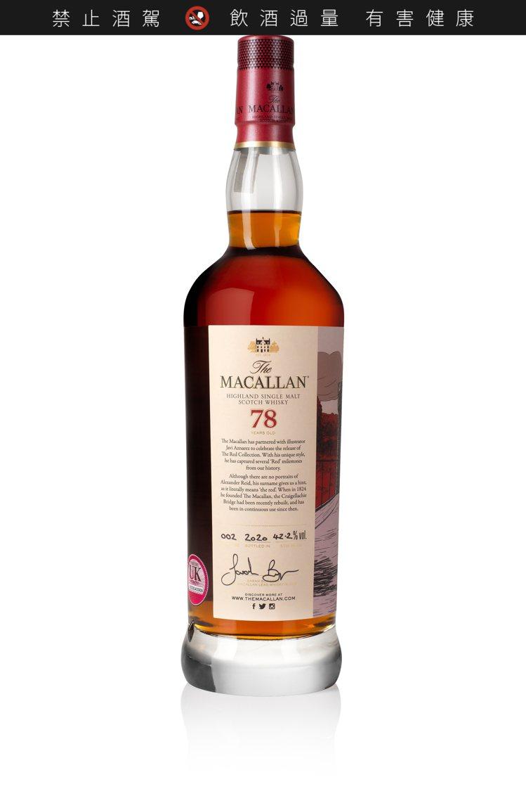 The Red Collection一組共6瓶的單一麥芽威士忌中,包括一瓶78年...
