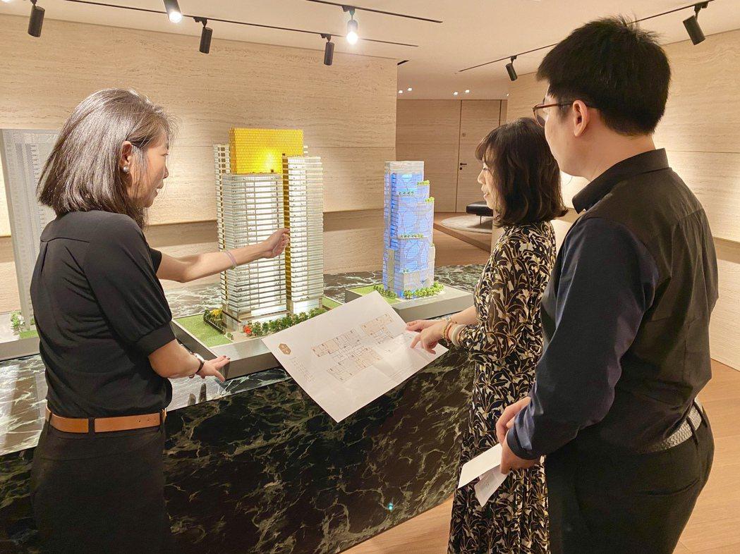 大陸建設在台中七期最新完工的「丽格」豪宅案,總銷120億元,目前銷售已破六成。記...