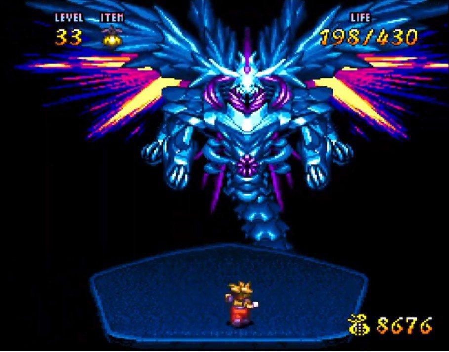 遊戲的最終魔王「黑暗蓋亞」之最後型態,讓人聯想到《聖劍傳說》中的神獸。