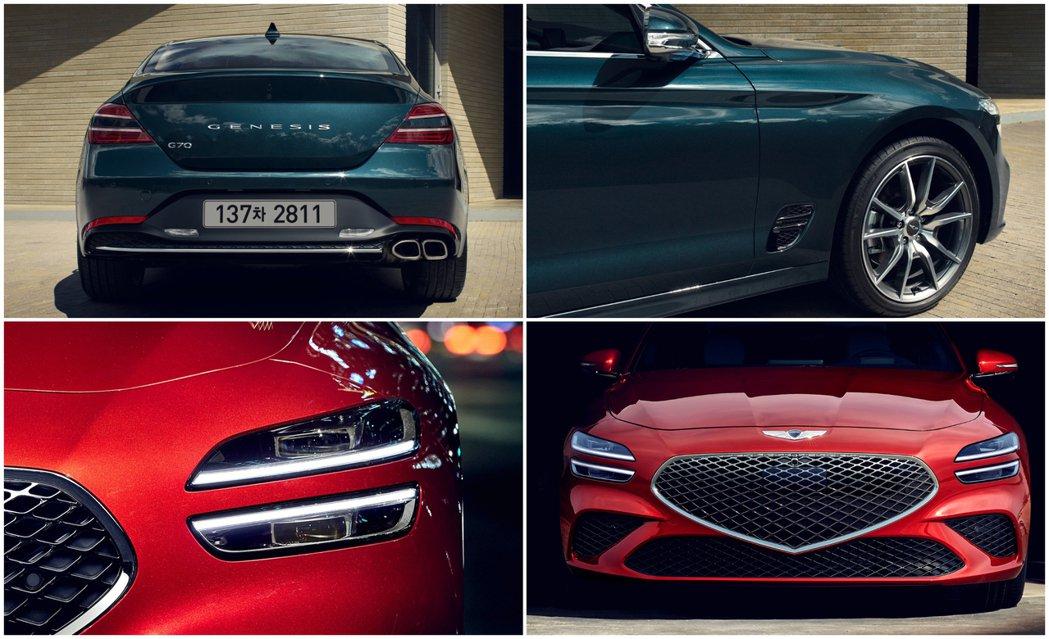 小改款Genesis G70外觀就是從廠徽形象幻化而成。 摘自Genesis