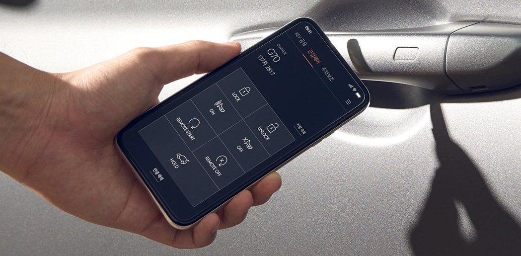 小改款Genesis G70導入了Genesis Digital Key智慧型手...