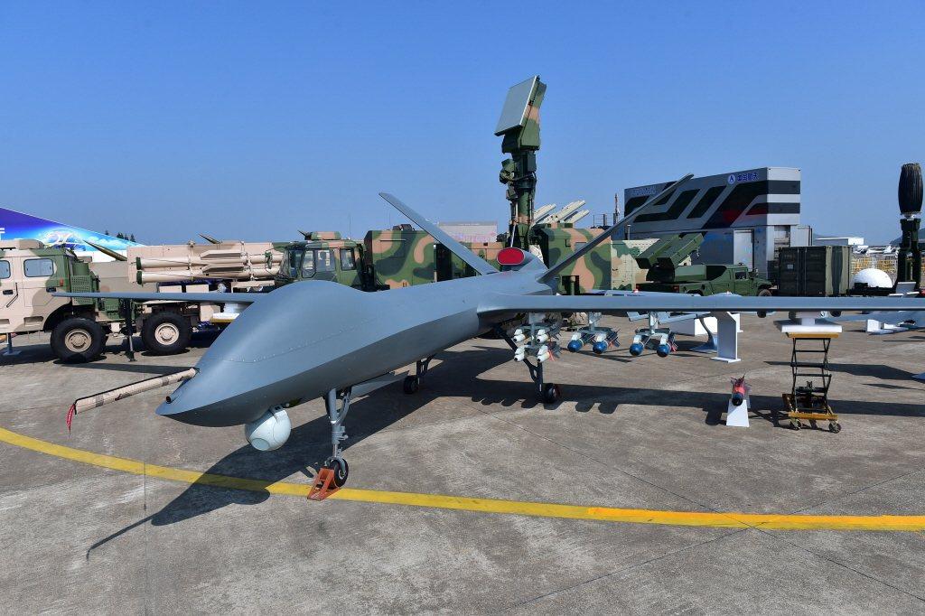 解放軍彩虹-5無人機。 圖/新華社