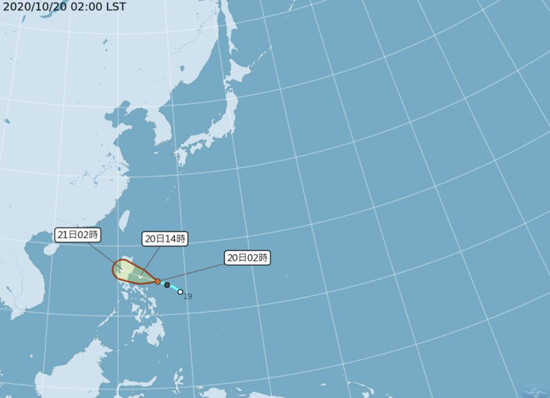 熱低壓預計今天形成「沙德爾」颱風。圖/取自氣象局