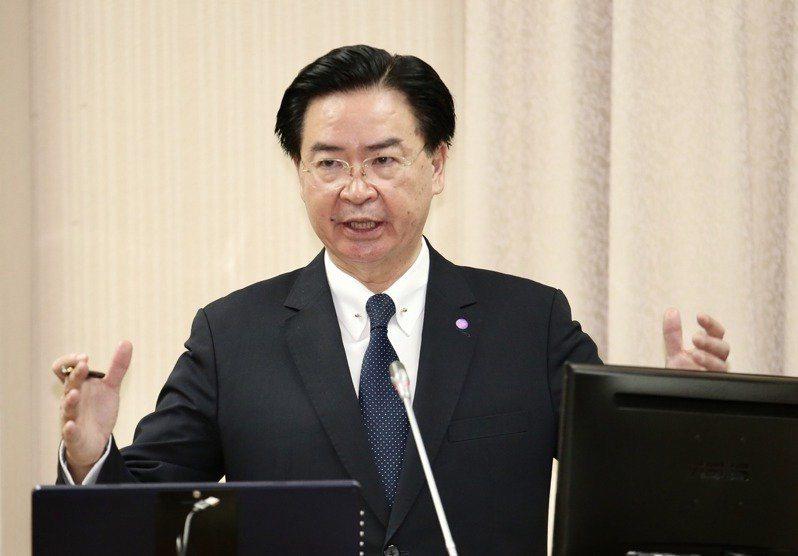 外交部長吳釗燮。 聯合報系資料照/記者黃義書攝影