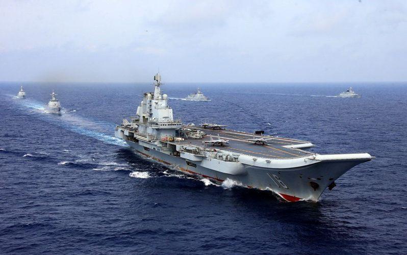 解放軍航母遼寧號。路透