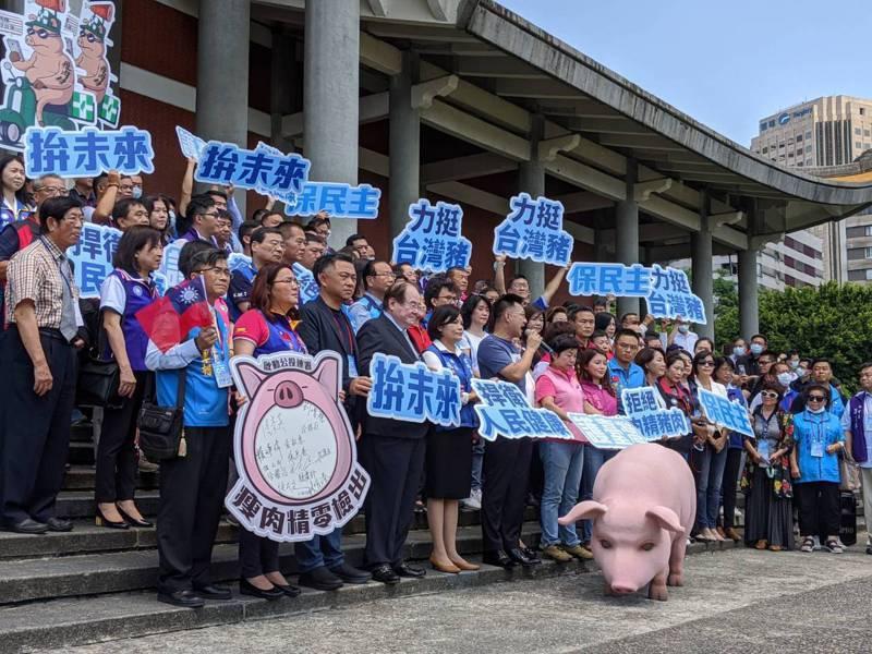 國民黨智庫上午公布最新民調,針對民眾是否贊成開放含瘦肉精的美豬進口,結果顯示有六成六的民眾反對。本報資料照片