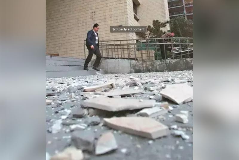 北市大樓外牆磁磚掉落砸傷人頻傳,市府要求全市4393棟老舊高樓,應做外牆健檢申報。 圖/聯合報系資料照片