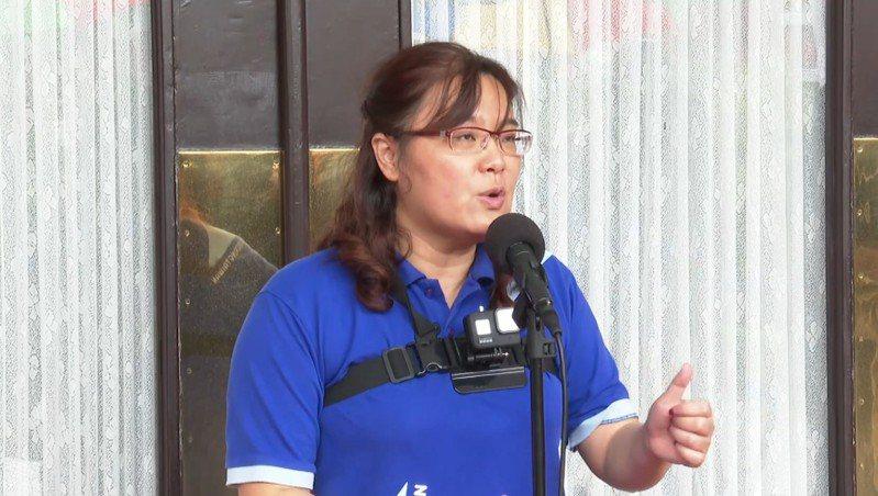 國民黨立委陳玉珍批評蘇貞昌對美豬做的錯誤決策,比白領薪水更嚴重。記者莊昭文/攝影