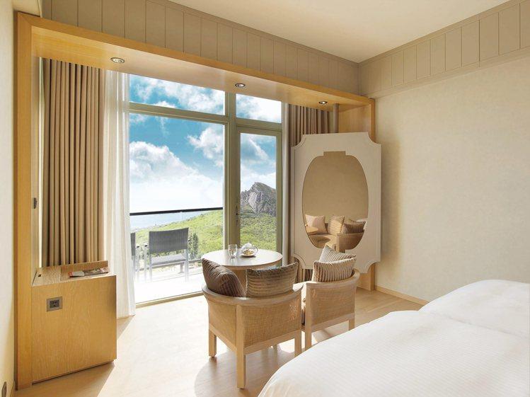 華泰瑞苑CP值最高的海景客房。圖/華泰大飯店集團提供