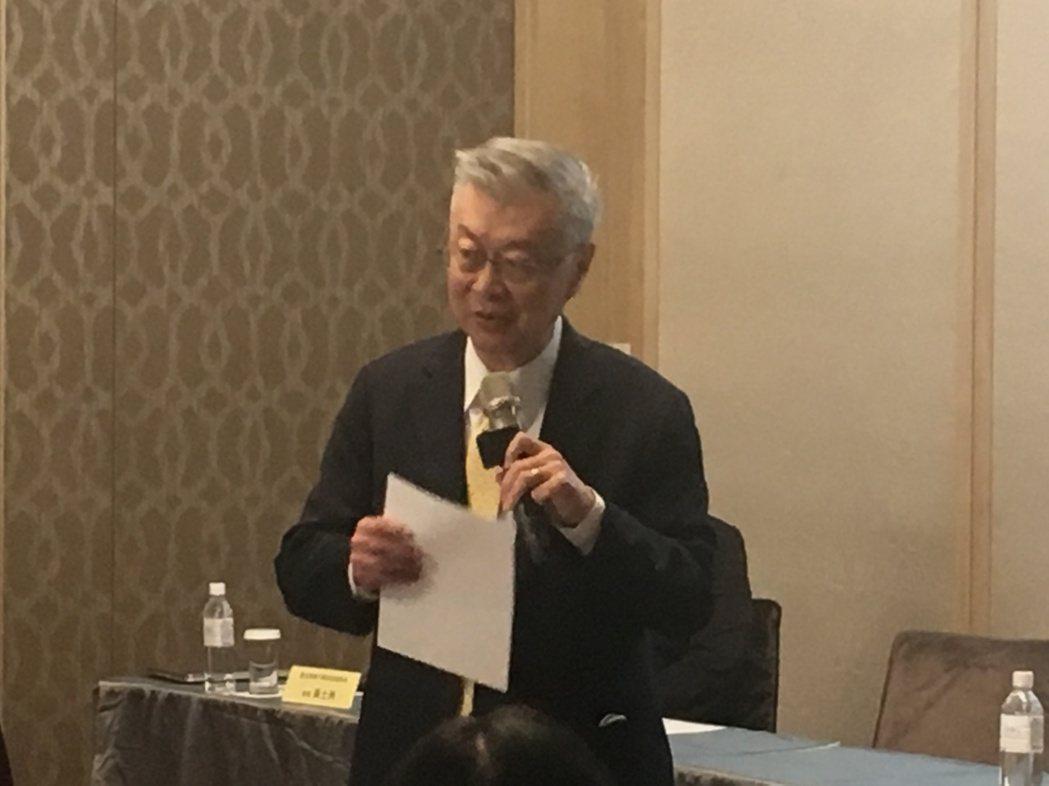 行政院前院長、現任新世代金融基金會董事長陳冲。記者程士華/攝影