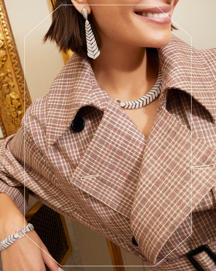 2020新款Vendôme系列的項鍊、手環與耳環,像是Boucheron芳登廣場...