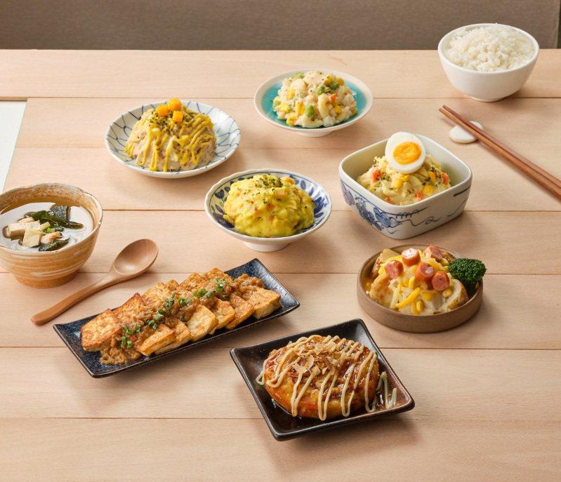 全家便利商店10月21日起新推出的「媽媽煮藝盒裝配菜」系列強調日式風味、微飽足感、營養均衡。圖/全家便利商店提供