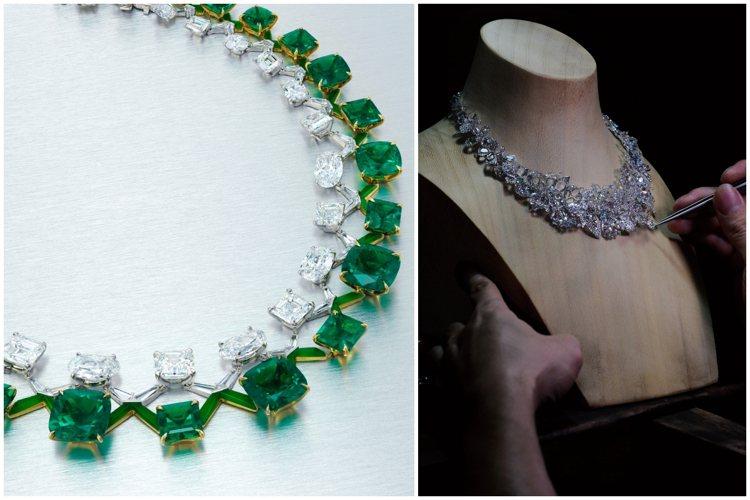 華人珠寶設計師作品為本季秋拍焦點。圖/佳士得、富藝斯提供