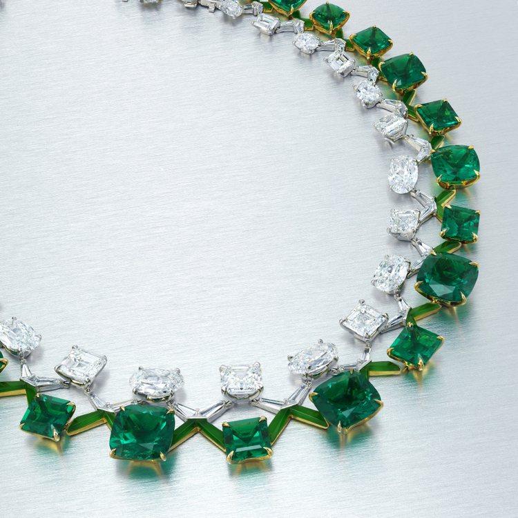 陳智安與著名珠寶品牌House of Boghossian聯袂打造的哥倫比亞天然...