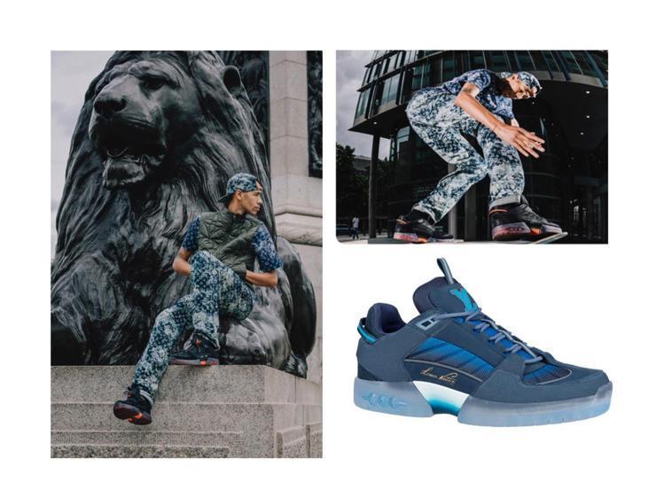路易威登與專業滑板好手Lucien Clarke聯手推出滑板鞋。圖/LV提供