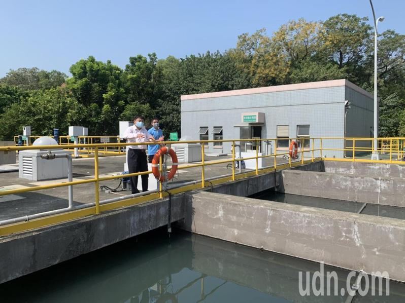 雲林科技工業區大北勢區汙水處理廠今天通水啟用。記者陳苡葳/攝影