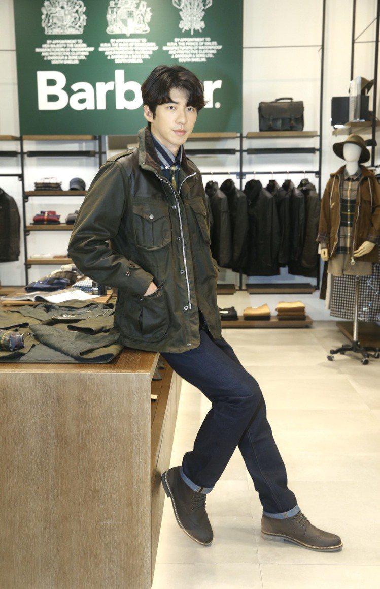 身為品牌粉絲的傅孟柏出席Barbour秋冬系列新品上市活動。記者林俊良/攝影