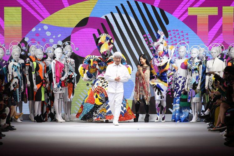 沙布喇.安德烈在台北時裝周期間發表2021春夏系列。圖/SABRA ANDRE提...