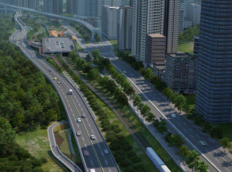 環境法律人協會律師張譽尹指出,新北限縮終點站車道數,預期淡北道路成大型停車場。圖/新北市交通局提供