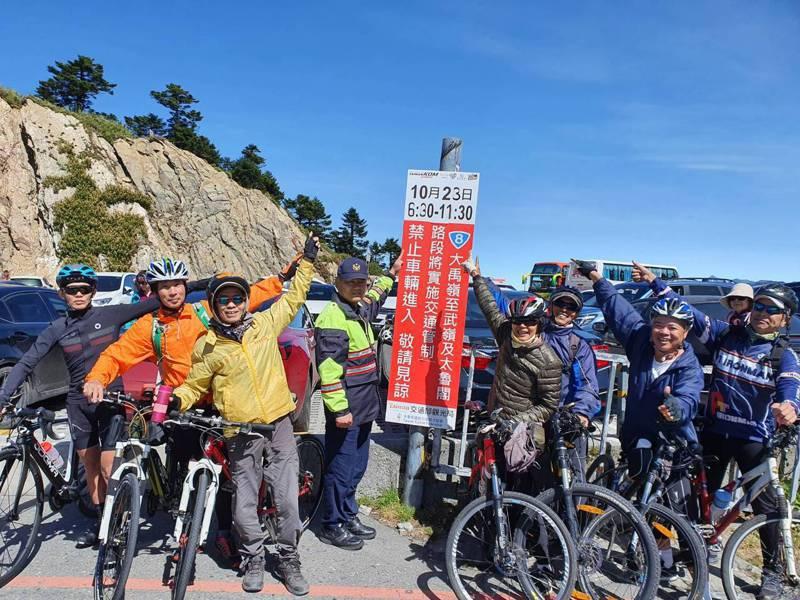台灣自行車挑戰賽將經過台8線、台14甲線等路線,警方封路管制。圖/警方提供