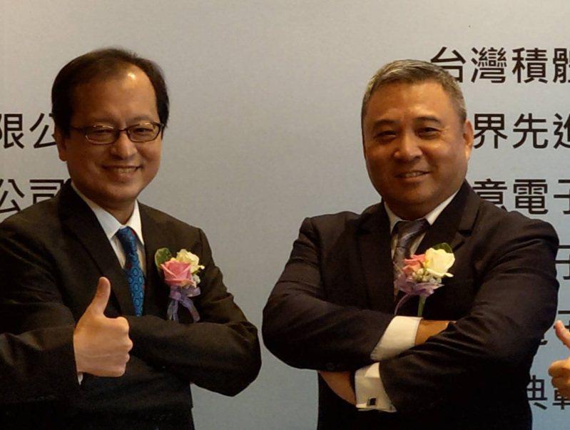 陞達科董事長李坤蒼(右)與總經理鄭淳仁。記者鐘惠玲/攝影