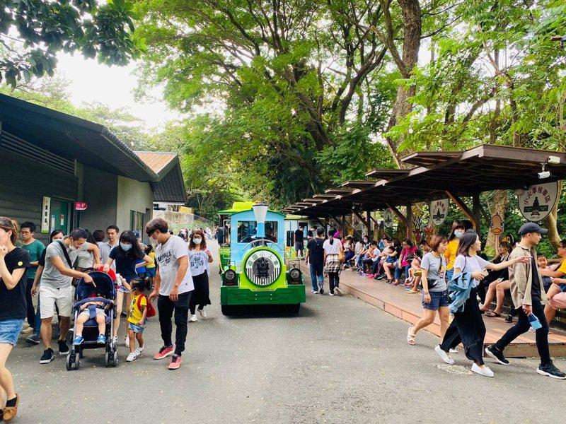 高雄市壽山動物園到年底享入園免門費,假日吸引親子暢遊。 圖/高雄市壽山動物園提供