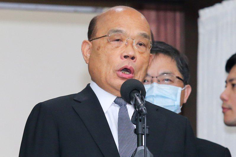 行政院長蘇貞昌。 聯合報系資料照/記者林伯東攝影