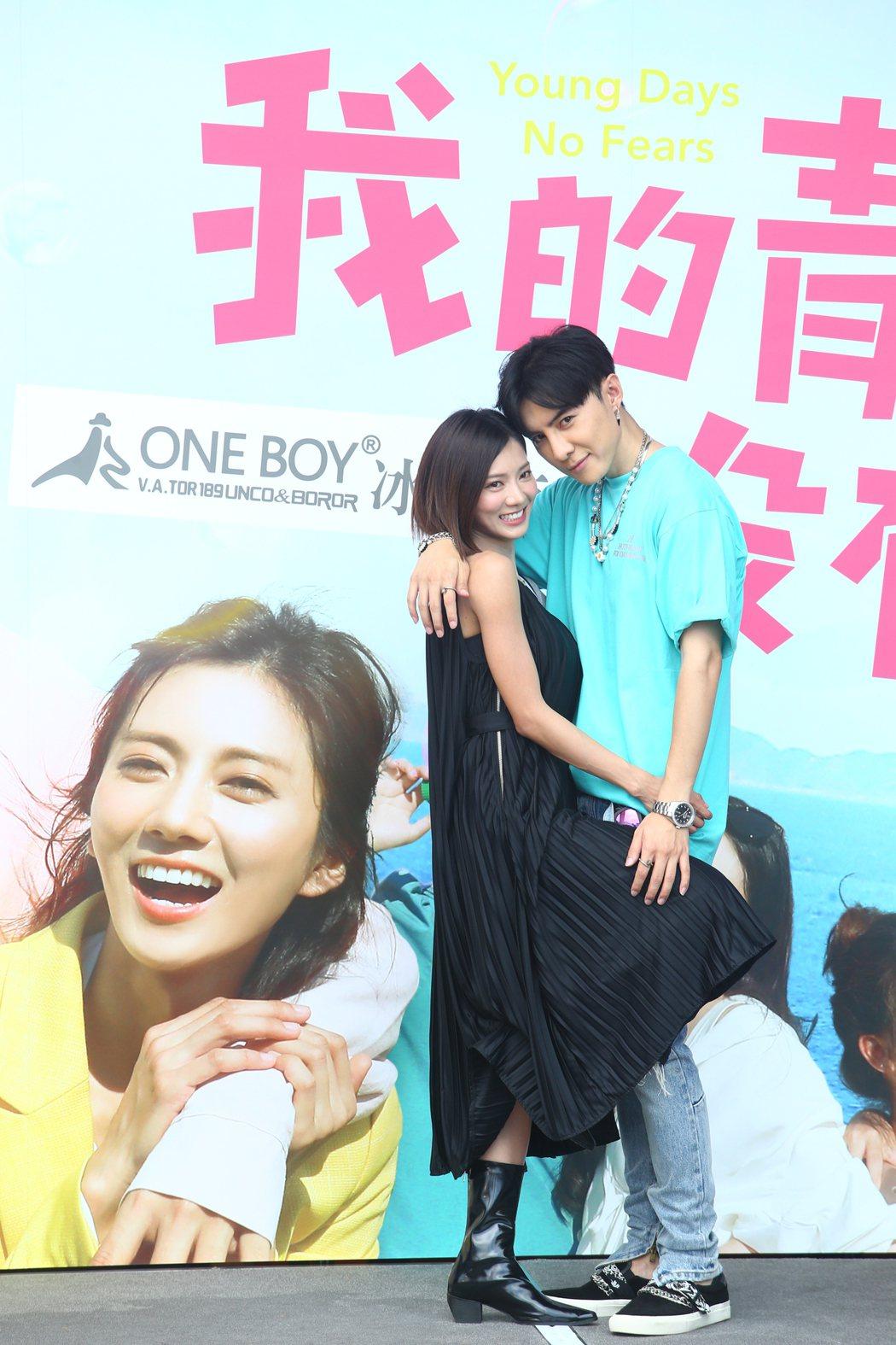 唐禹哲和蔡黃汝在「我的青春沒在怕」中演出一對,被網友封為「明天CP」。圖/報系資