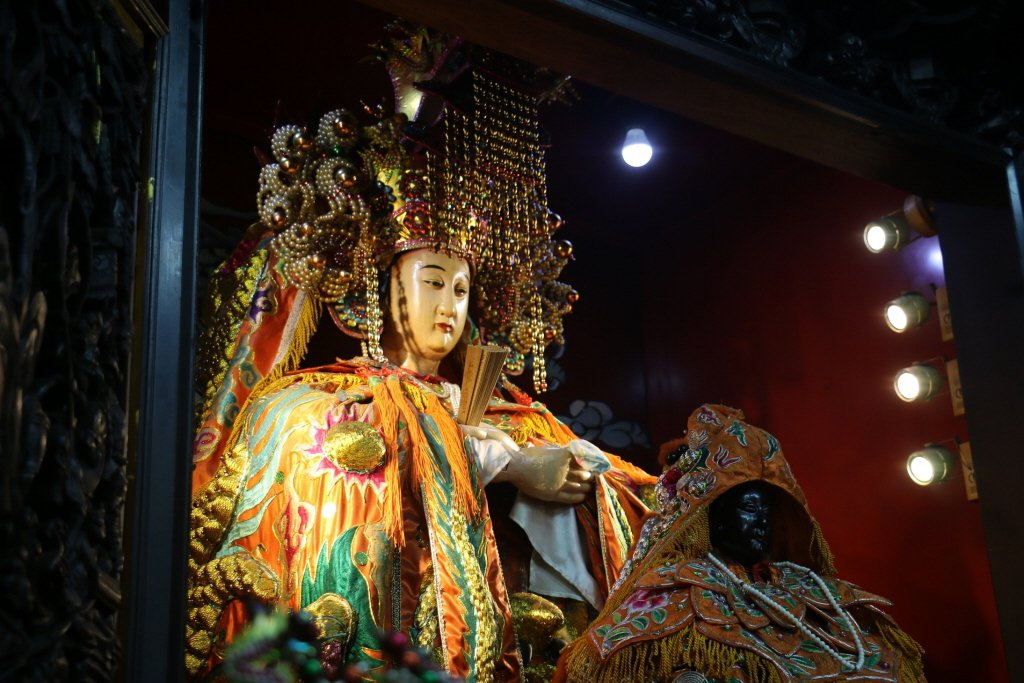 台灣的媽祖神像,幾乎都是以較為豐腴的姿態呈現,符合信眾心裡的「慈母」概念。 圖/聯合報系資料照