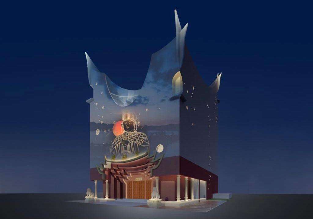 濟德宮重建3D夜間模擬圖。 圖/作者提供