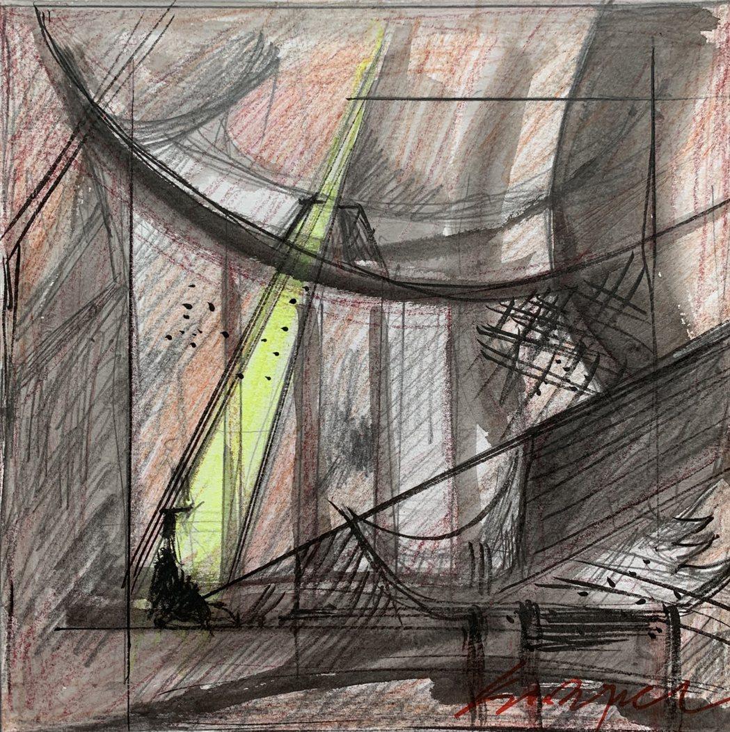 濟德宮重建手繪草圖。 圖/作者提供