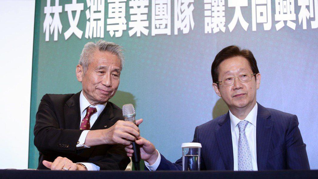 林文淵(右)。記者邱德祥/攝影