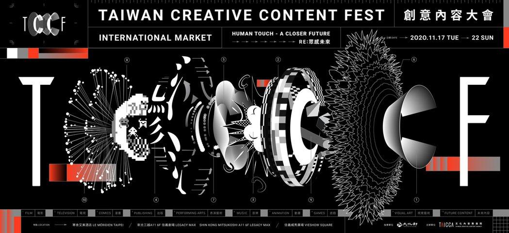 文策院打造亞洲指標內容市場展會,創意內容大會TCCF首度亮相。 文策院/提供