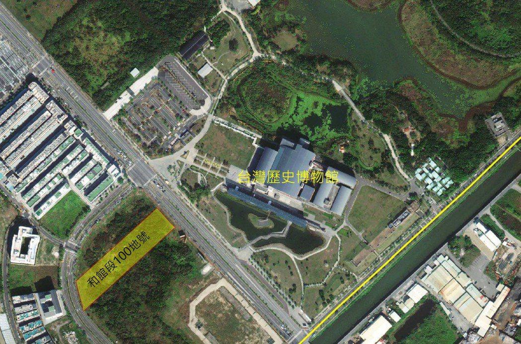 本次標售位置。  臺南市政府地政局 提供