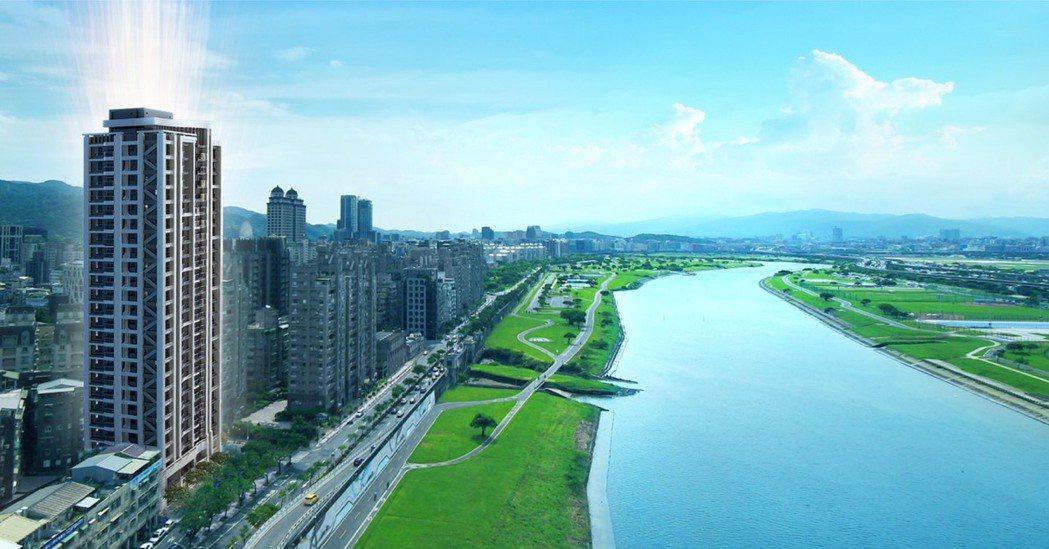 由聖得福建設僅花8個月成功整合都更打造的預售案「最大直」,主打明水路面水岸首排唯...