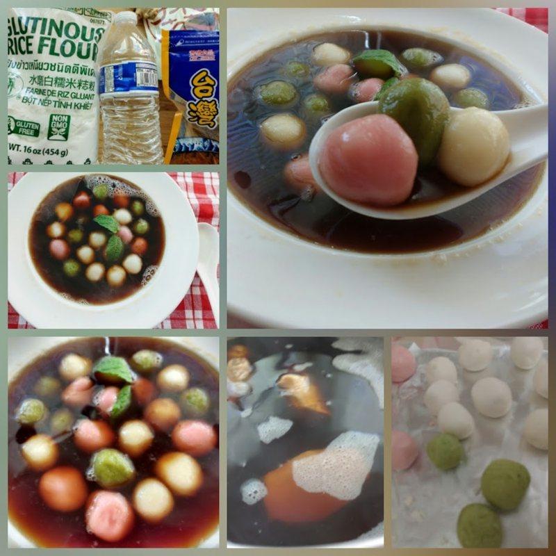 食譜/三色黑糖薑汁湯圓 吃完全身暖和又舒暢!