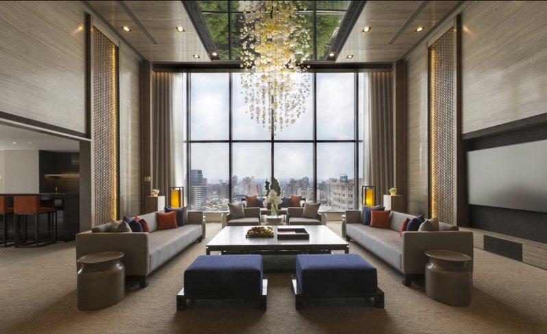 晶華酒店總統套房。圖/打開台北提供