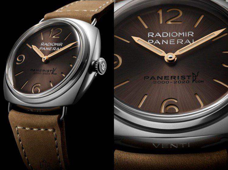 沛納海為專屬社群網站推出限量腕表,特殊棕色的金屬表面、也向1930的Radior...