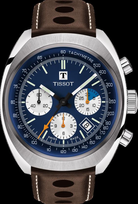 天梭表Heritage 1973計時碼表,不鏽鋼表殼搭載A05自動計時機芯,約6...