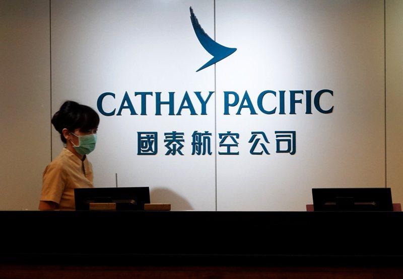 香港國泰航空公司與國泰港龍航空公司設在桃園機場第一航廈的櫃檯。聯合報系資料照片