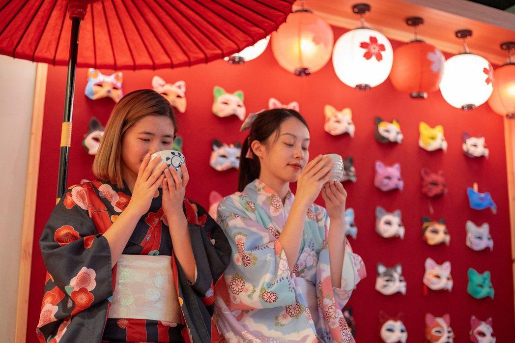 綠舞主推日式主題造景庭園美景,園區還有日式浴衣、抹茶體驗等多元豐富活動。圖/綠舞...