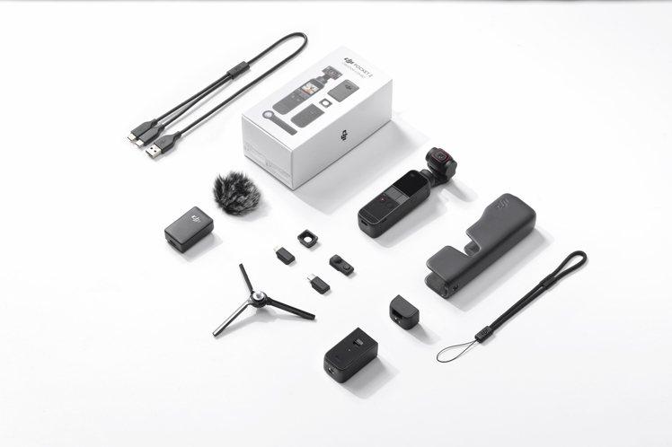 DJI Pocket 2套裝版,建議售價16,800元,擁有更豐富多元的拍攝配件...