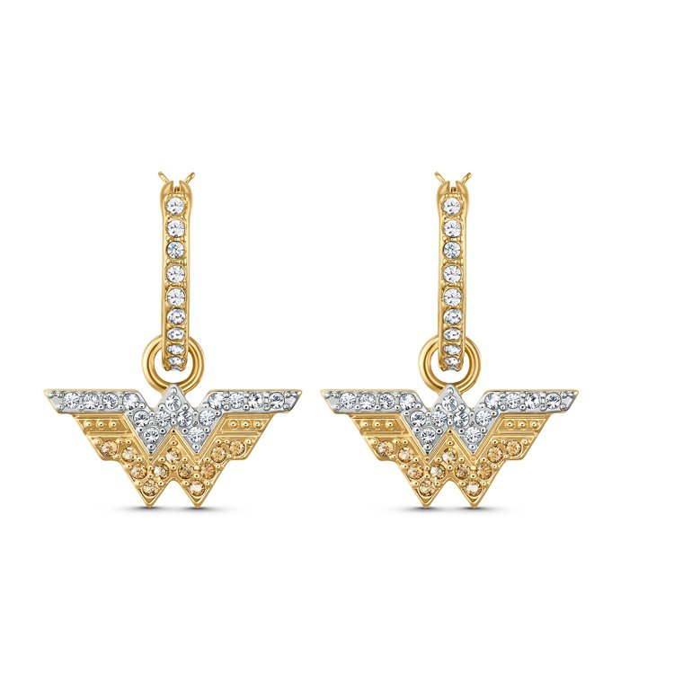 SWAROVSKI FIT WONDER WOMAN穿孔耳環,3,990元。圖/...