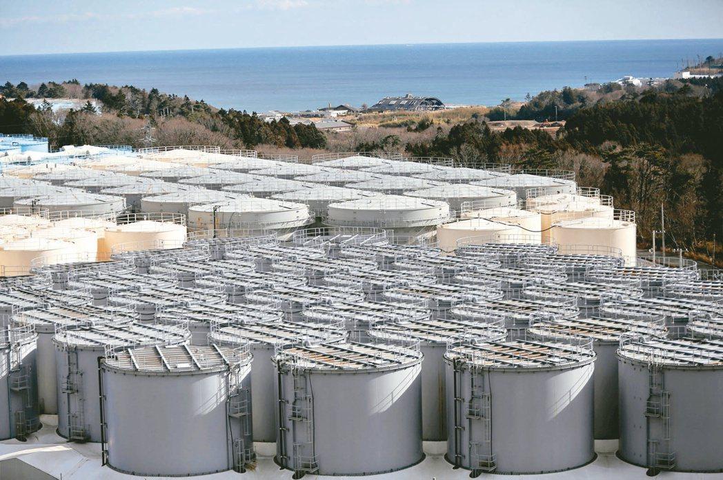福島核電廠的核廢水儲存槽即將不敷使用。(路透)